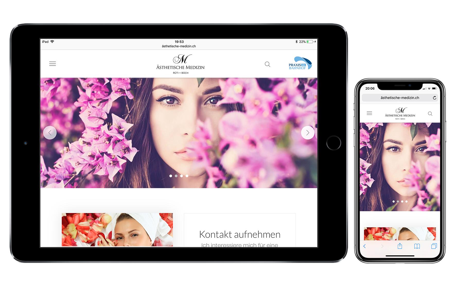 Responsive Webdesign - Ästhetische Medizin Rüti + Bäch