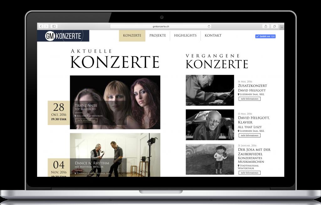 Responsive Webdesign - GMkonzerte
