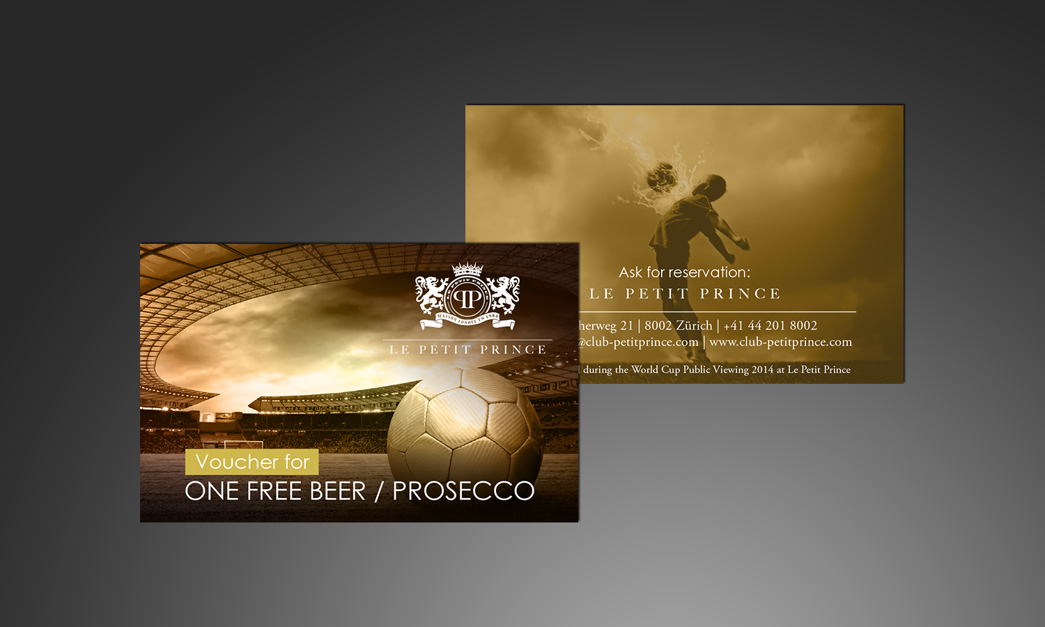 Beer & Prosecco Voucher - World Cup Public Viewing