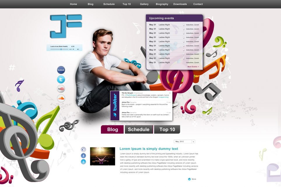 Website Layout 2.0 - DJ Jenas Fox
